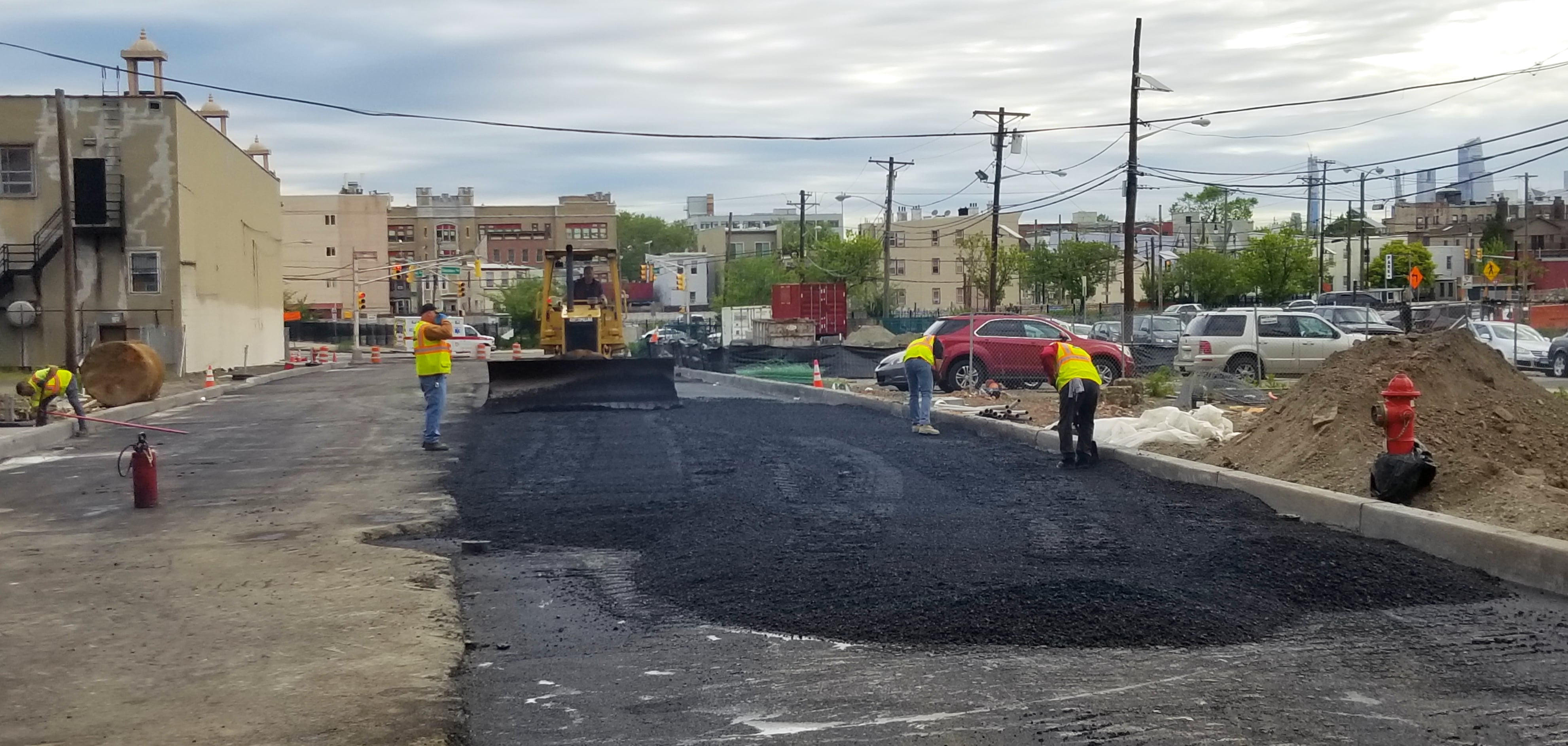 Paving of new Central Avenue Extension